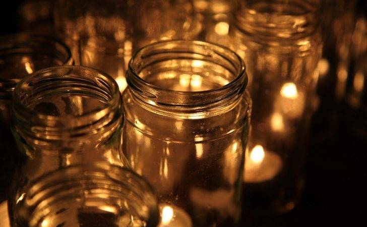 Candles Glass Containers Protected Wind Source