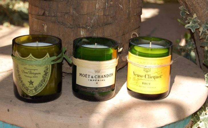 Candles Out Recycled Wine Bottles Ideas Pinterest
