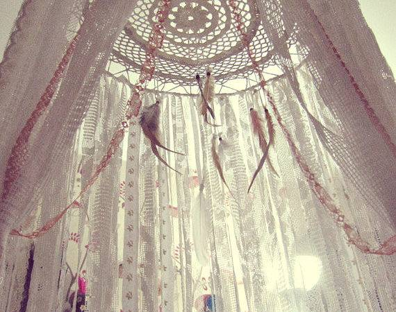 Canopy Gypsy Nursery Decor Dreamcatcher Bohemian Bedroom