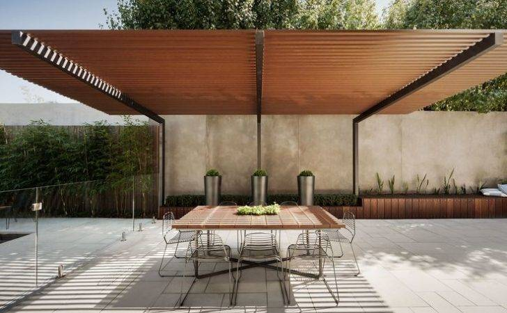 Cantilevered Pergola Over Outdoor Dining Canopy Pinterest