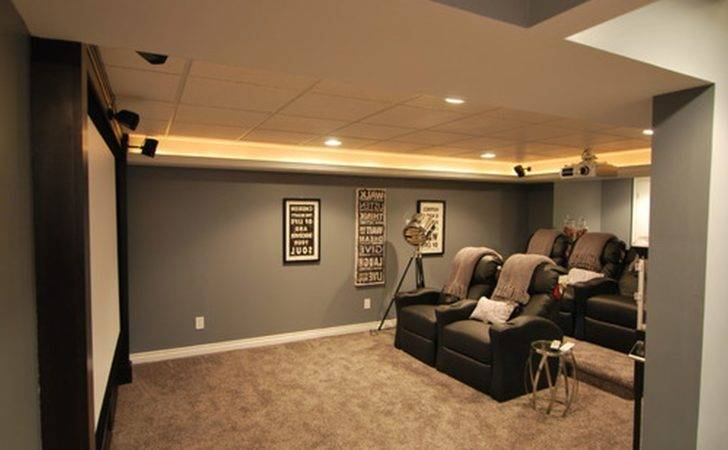 Captivating Basement Decorating Ideas Which Equipped Leather