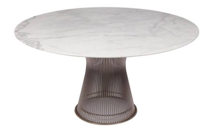 Carrera Marble Topped Dining Table Warren Platner Stdibs