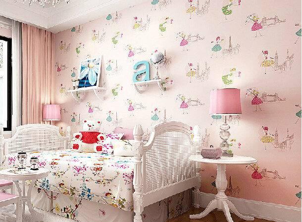 Cartoon Dancing Girl Girls Bedroom Kids Room