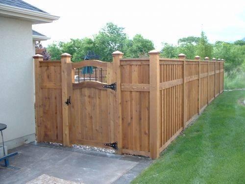 Cedar Fence Like Gate Color