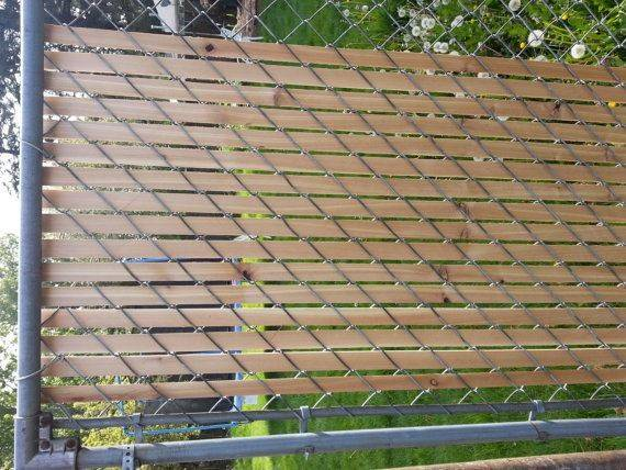 Cedar Fence Slats Chain Link Links