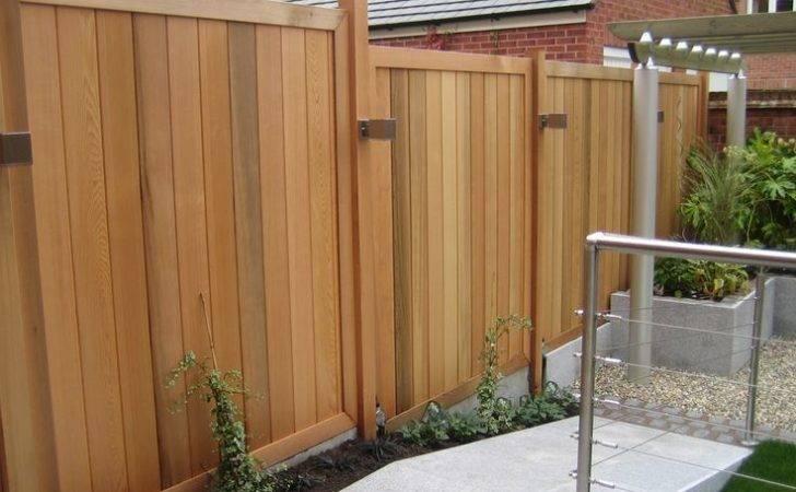 Cedar Outdoor Area Lights Favorite Landscape Fence Panels