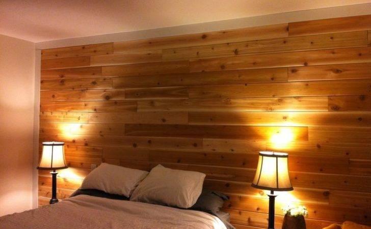 Cedar Wood Wall Master Bedroom Diy Pinterest