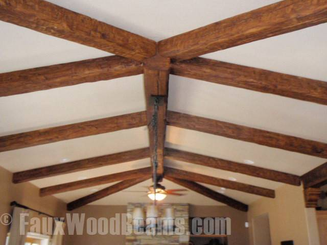 Ceiling Beams Attached Smooth Creates Clean Line