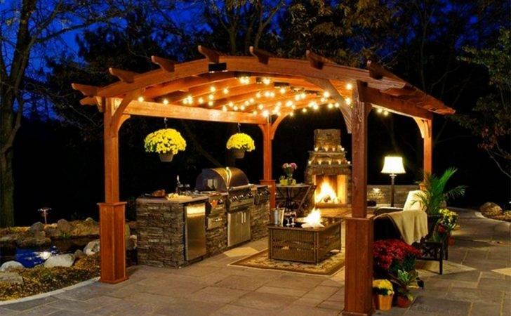 Ceiling Gazebo Lighting Ideas Small Backyard