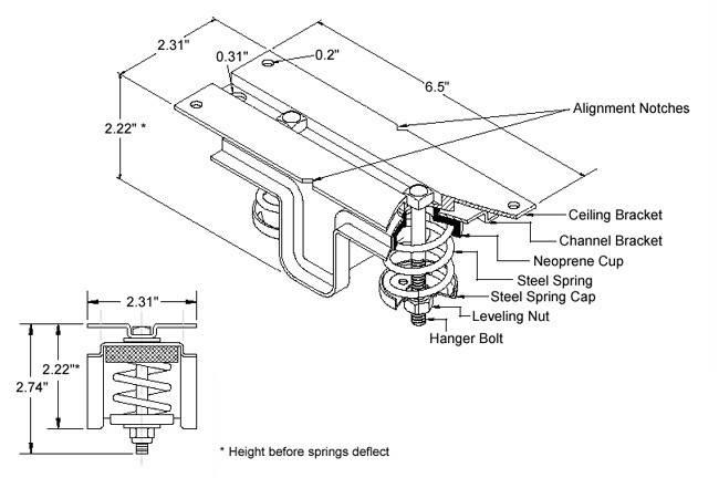 Ceiling Hanger Kinetics Model Ksch Super Compact