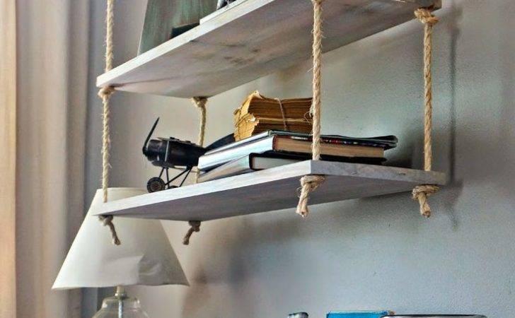 Ceiling Hanging Shelf Brackets Shelves Minimalist