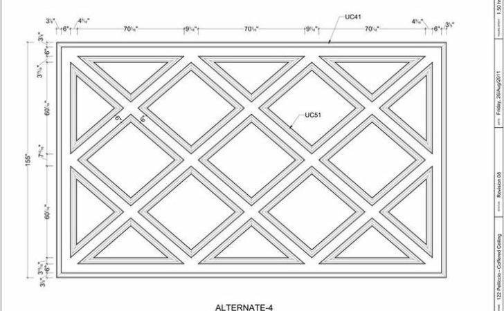 Ceiling Pinterest Design Drawings Coffered Ceilings