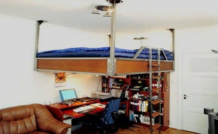 Ceiling Suspended Bed Small Bedroom