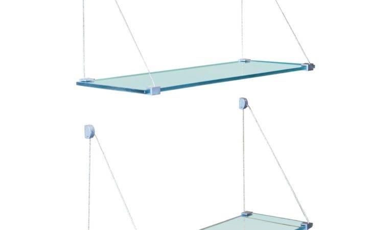 Ceiling Suspended Glass Shelves Shelf Hanging