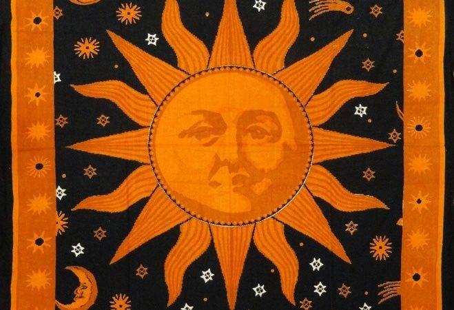 Celestial Sun Face Tapestry Moon Stars Pinterest