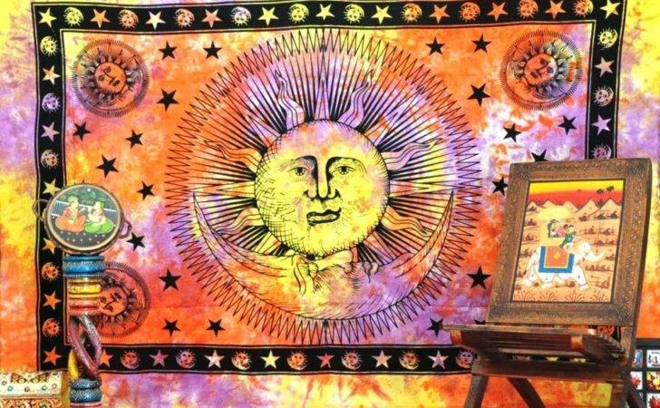 Celestial Sun Moon Hippie Tapestries Wall Hanging Cheap Tapestry