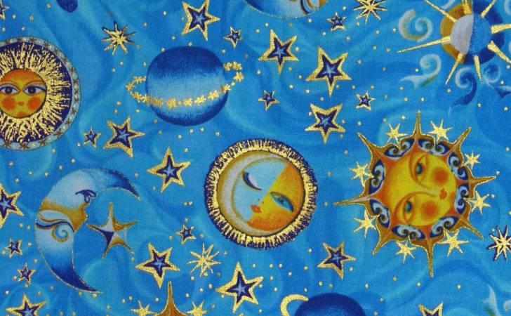 Celestial Sun Moon Star Bedding Pics Space