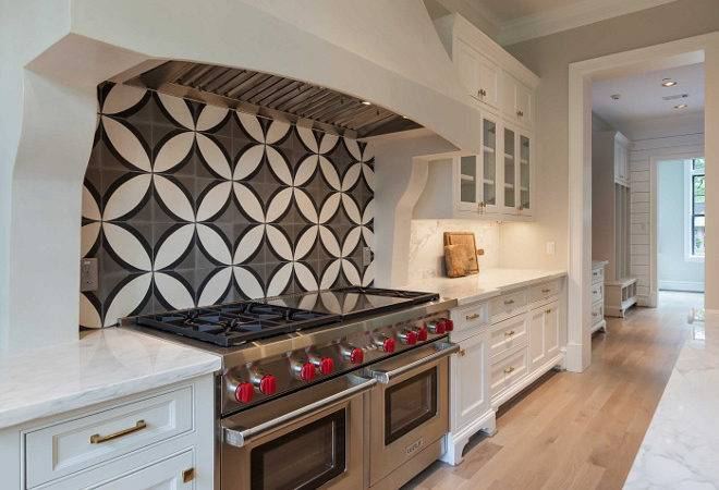 Cement Tile Backsplash Shop Circle Kitchen