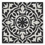 Cement Tile Black White Moroccan Mosaic House