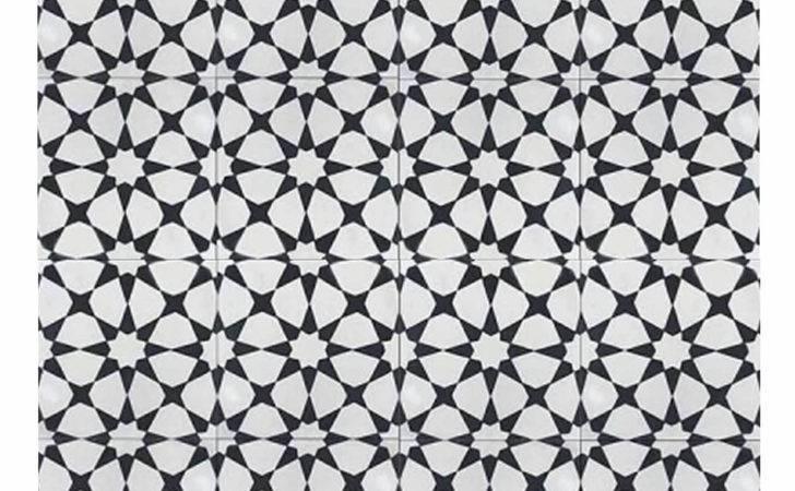 Cement Tile Black White Moroccan Mosaic House
