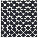 Cement Tile Black White Set Wall Floor