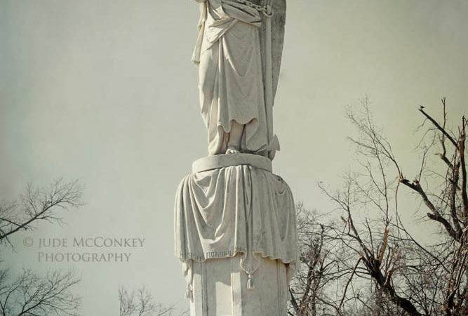 Cemetery Angel Guardian Headstone Judemcconkeyphotos