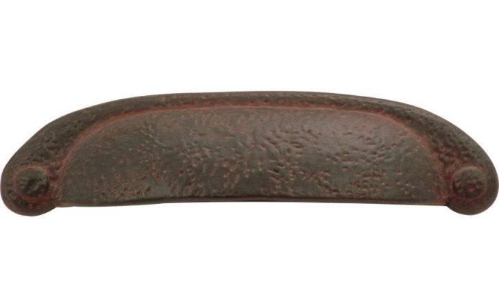 Center Rustic Iron Refined Cup Cabinet Pull