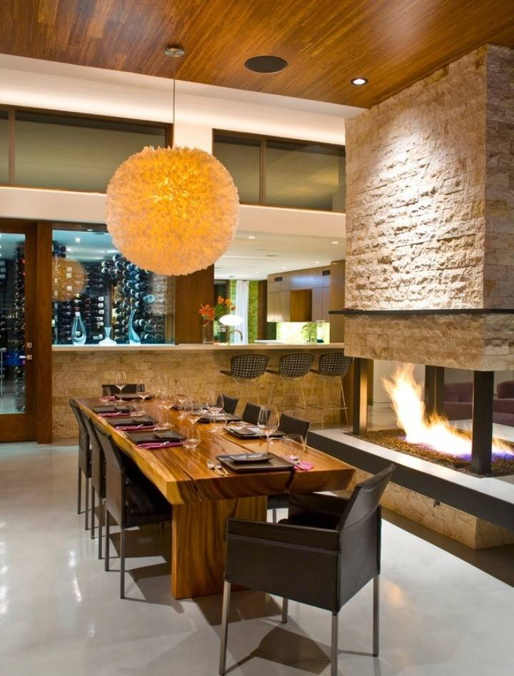 Central Fireplace Rooms Spaces Pinterest