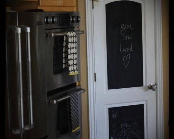Chalkboard Pantry Door Doing Our Weekend