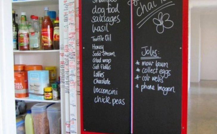Chalkboard Pantry Door Home Decorating Trends Homedit