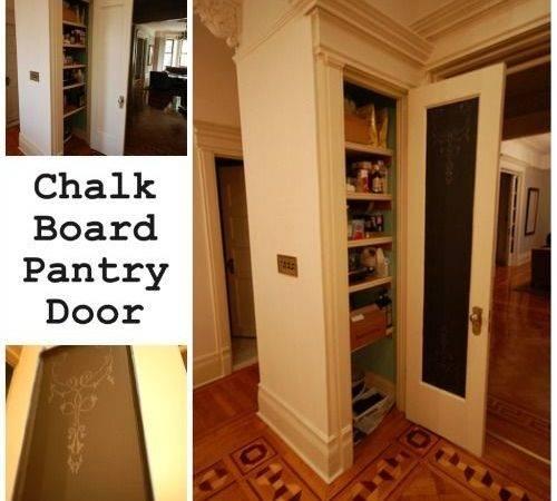 Chalkboard Pantry Door Home Sweet Pinterest Doors Good