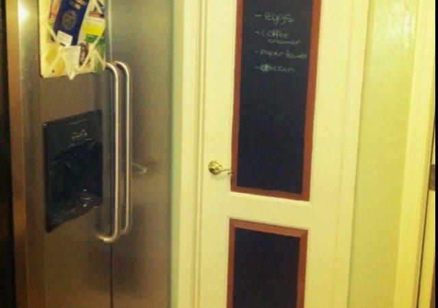 Chalkboard Pantry Door Trim Home Kitchen Pinterest