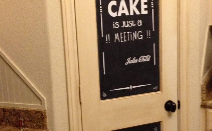 Chalkboard Pantry Door Vinylized Home Pinterest