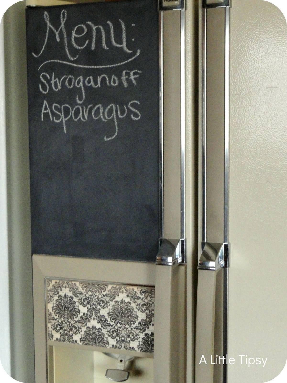 Chalkboard Refrigerator Little Tipsy
