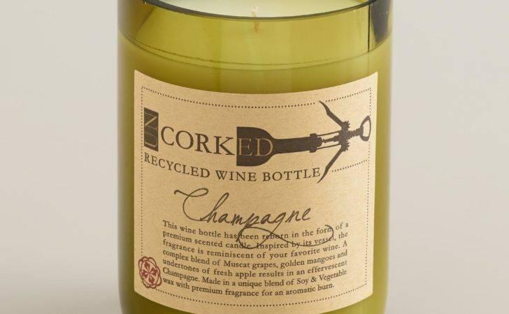 Champagne Wine Bottle Filled Candle World Market