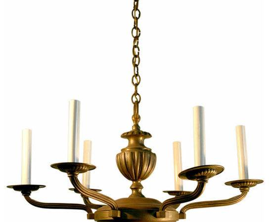 Chandelier Bronze Rhulmann Style Mediterranean