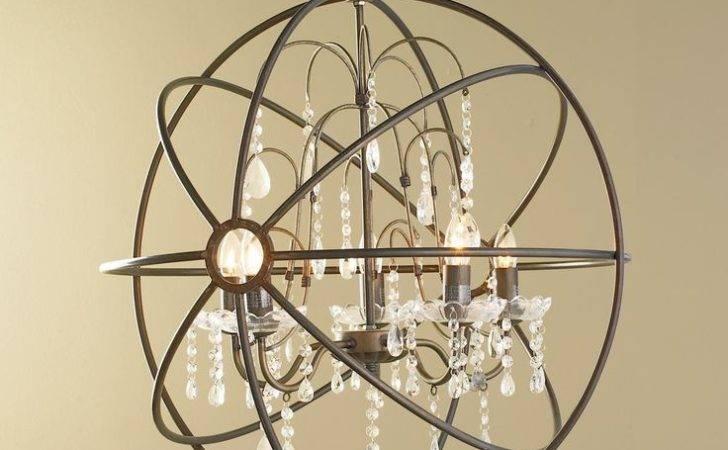 Chandelier Glass Crystal Chandeliers Bronze Globe