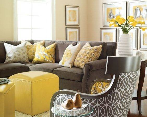 Charcoal Grey Bold Yellow Furniture Artworks Accessories