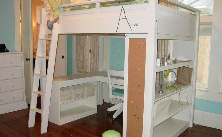 Charming Selections White Loft Beds Desk