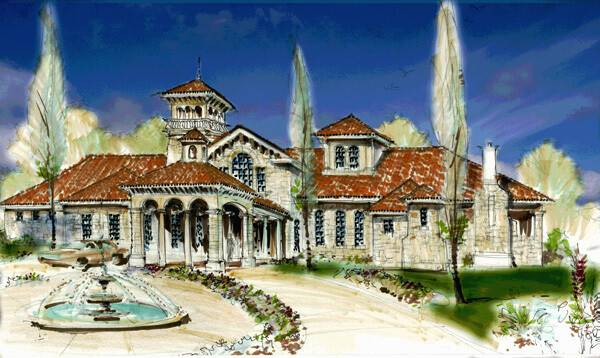 Chateau Home Designs Luxury Plans French Country Tuscan