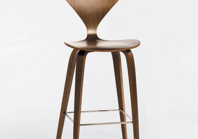 Cherner Chair Wood Base Stool Counter Modern Bar Stools