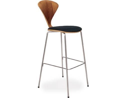 Cherner Metal Leg Stool Upholstered Seat Hivemodern