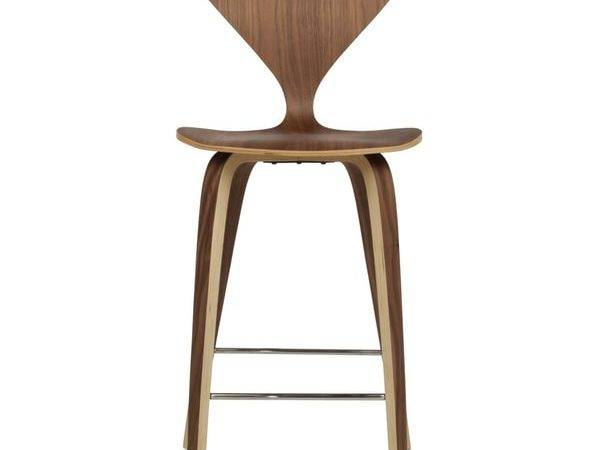 Cherner Style American Walnut Counter Stool Overstock