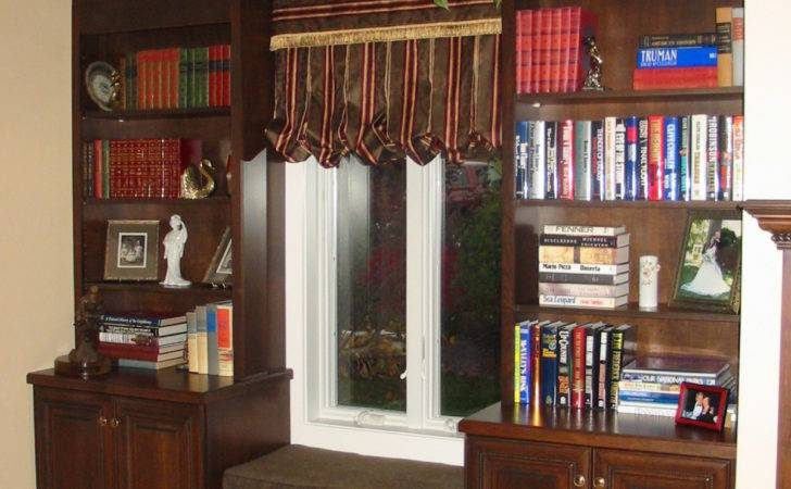 Cherry Bookcase Window Seat Rooms Spaces Nicely Done Pinter
