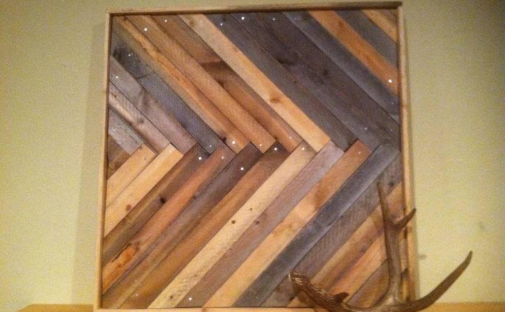 Chevron Herringbone Wood Wall Hanging Ponderosatexas Etsy