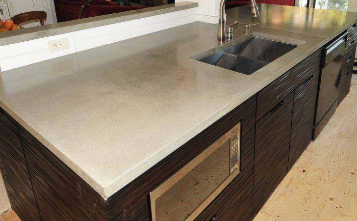 Chic Modern Concrete Kitchen Countertops Made Okanagan