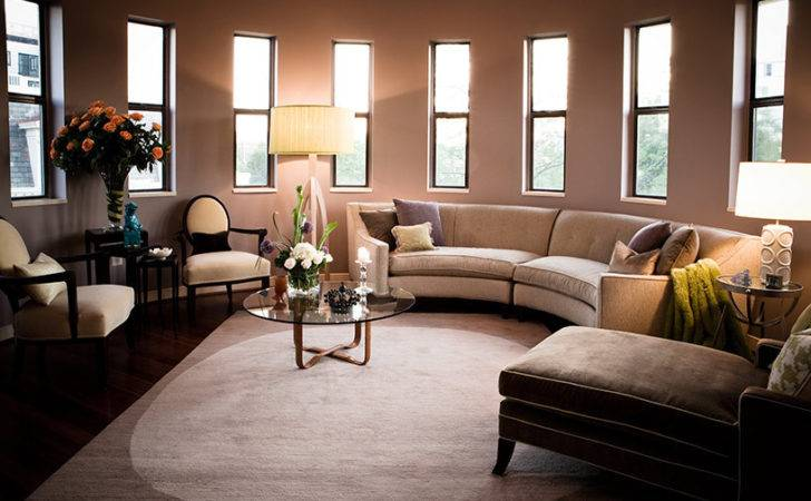 Chic Rowe Furniture Living Room Contemporary Semi Circle Couch