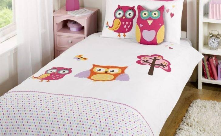 Children Kids Cotton Luxury Themed Bedding Duvet Cover Owl Hoot