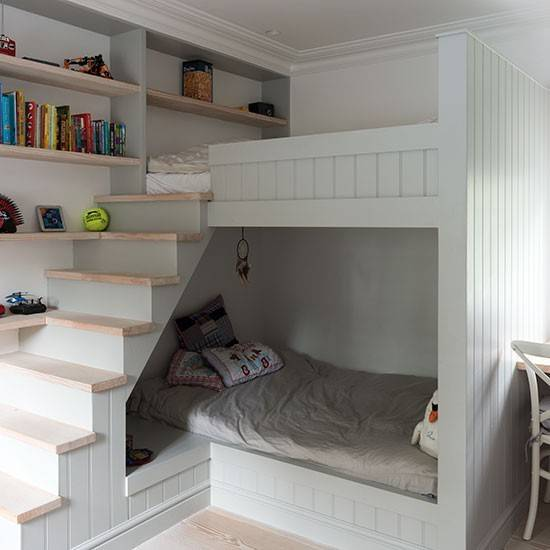 Children Room Built Bunk Beds Childrens Decorating