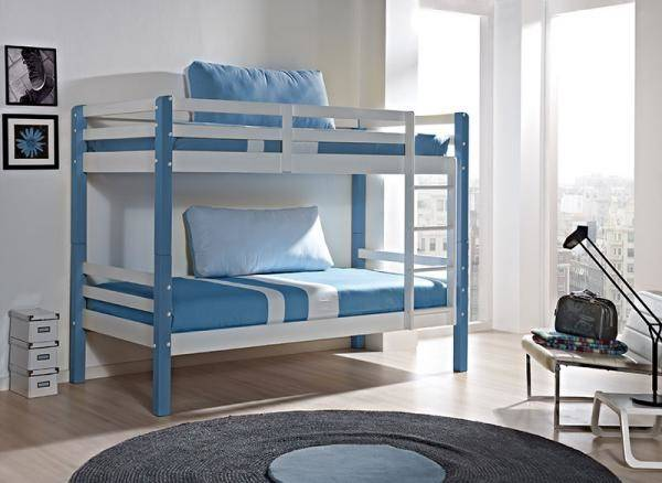 Childrens Contemporary Aloha Bunk Bed Choice Yellow Blue